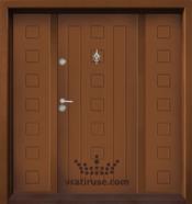 Dvukrila vhodna vrata T 712 tsvyat Zlaten dab