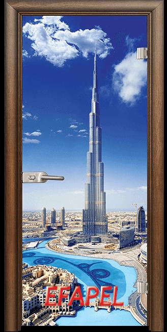Стъклена интериорна врата Print G 13 16 Dubai H