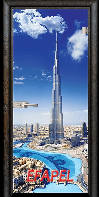 Стъклена интериорна врата Print G 13 16 Dubai R
