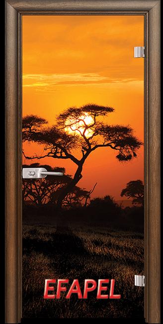 Стъклена интериорна врата Print G 13 17 African Sunset H