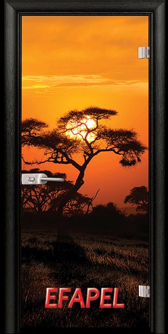 Стъклена интериорна врата Print G 13 17 African Sunset M
