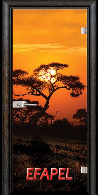 Стъклена интериорна врата Print G 13 17 African Sunset R