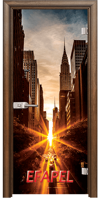 Стъклена интериорна врата Print G 13 18 New York H