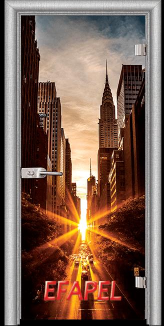 Стъклена интериорна врата Print G 13 18 New York L