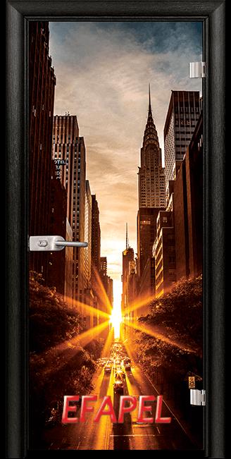 Стъклена интериорна врата Print G 13 18 New York M