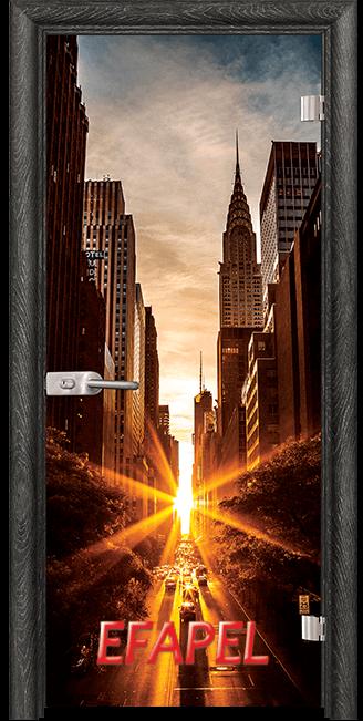 Стъклена интериорна врата Print G 13 18 New York O