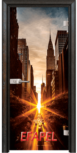 Стъклена интериорна врата Print G 13 18 New York R