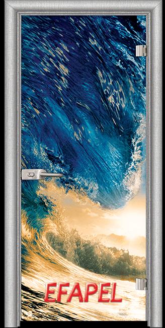Стъклена интериорна врата Print G 13 19 Wave L