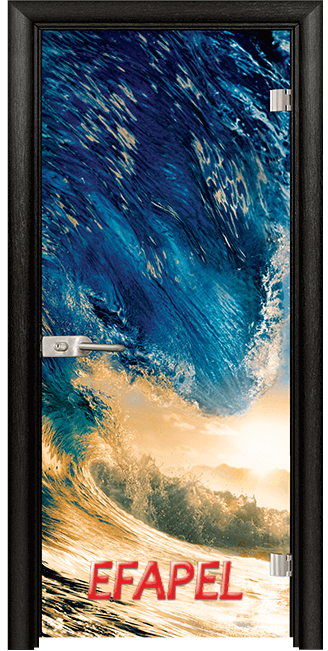 Стъклена интериорна врата Print G 13 19 Wave M