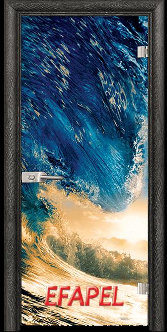 Стъклена интериорна врата Print G 13 19 Wave O