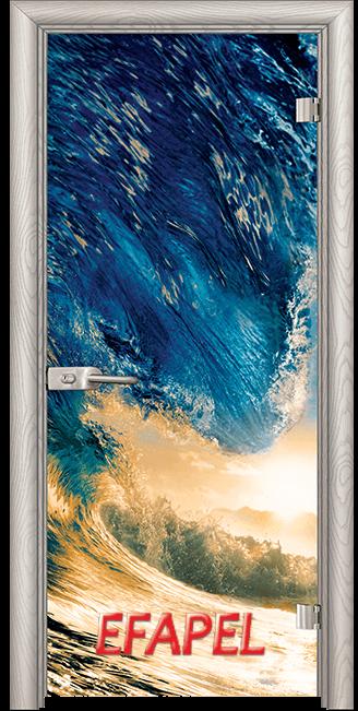 Стъклена интериорна врата Print G 13 19 Wave V